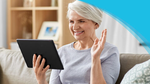 Getting Started | Canadian Hard Of Hearing Association - Woman chatting on a tablet