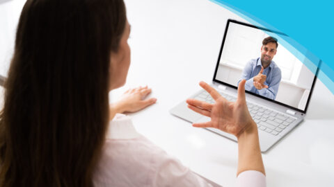 Code of Conduct | Canadian Hard Of Hearing Association - Woman talking to another person on a laptop screen